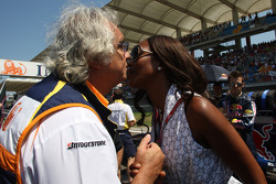 Naomi Campbell, Supermodel and Flavio Briatore, Renault F1 Team, Team Chief, Managing Director