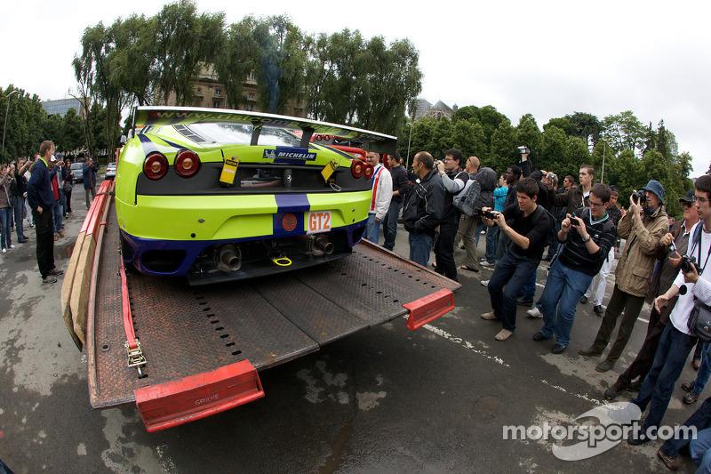 Risi Competizione Ferrari F430 GT arrives at scrutineering