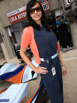 An Aston Martin Racing girl