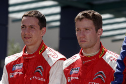 Podium: second place Sébastien Ogier and Julien Ingrassia, Citroen Junior Team Citroen C4 WRC