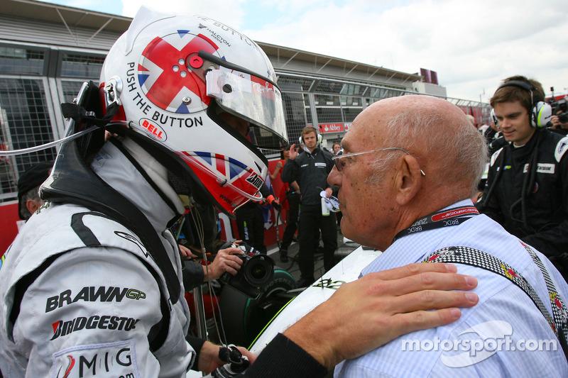 Jenson Button, Brawn GP and Sir Stirling Moss