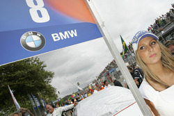 Grid girl of Augusto Farfus, BMW Team Germany