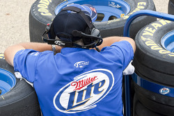 A Miller Lite crew member at work