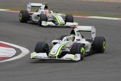 Jenson Button, Brawn GP y Rubens Barrichello, Brawn GP