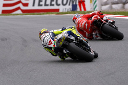 Valentino Rossi, Fiat Yamaha Team and Casey Stoner, Ducati Team