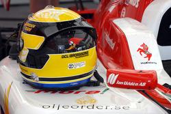 The helmet of Sebastian Hohenthal