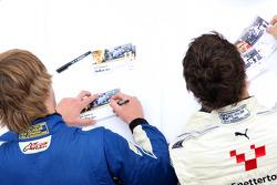The Formula Two driver autograph session