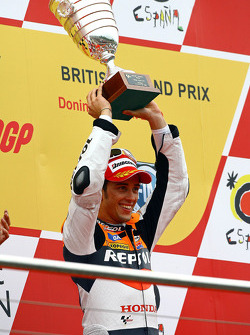 Podium : le vainqueur Andrea Dovizioso, Repsol Honda Team