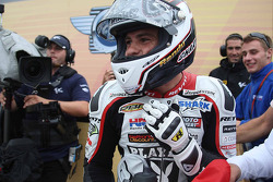 Randy De Puniet, LCR Honda MotoGP celebrates third place