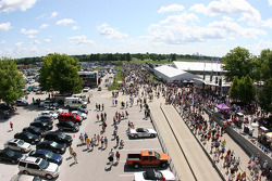 Crowds file in for the Allstate 400 at The Brickyard