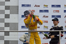 Podium celebrations: race winner Wayne Boyd, second place Adriano Buzaid, third place Walter Grubmuller
