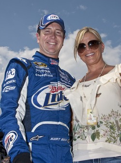 Kurt Busch and his wife Eva