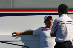 Timo Glock, Toyota F1 Team and Beat Zehnder, BMW Sauber F1 Team, Team Manager