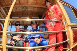 Drivers presentation: Marco Andretti, Andretti Green Racing, Hideki Mutoh, Andretti Green Racing, Graham Rahal, Newman/Haas/Lanigan Racing
