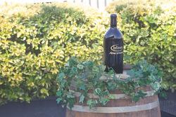 Victory lane: the winning bottle of wine