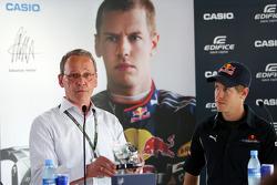 Sebastian Vettel, Red Bull Racing with his new Casio signature watch