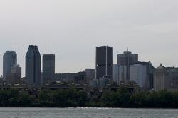 A view of downtown Montréal from Circuit Gilles-Villeneuve