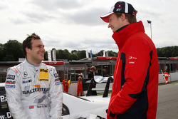 Gary Paffett, Team HWA AMG Mercedes C-Klasse, Mattias Ekström, Audi Sport Team Abt Audi A4 DTM