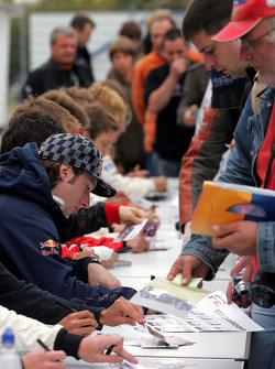 Mirko Bortolotti during the F2 driver autograph session