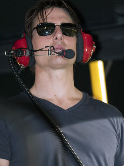 Tom Cruise watches the Pep Boys Auto 500