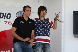 Justin Wilson, Dale Coyne Racing, guest during a talk show