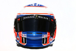 El casco de  Jenson Button, McLaren