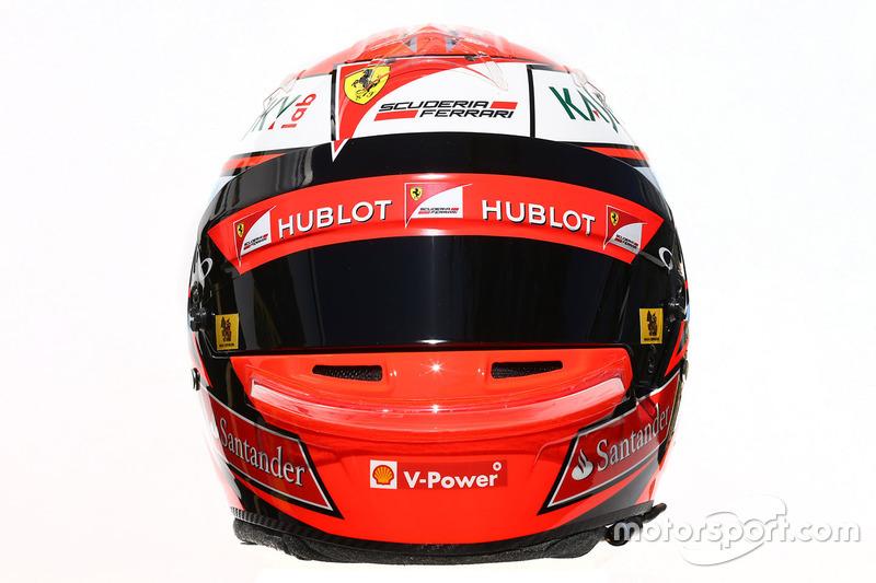 El casco de Kimi Räikkönen, Ferrari