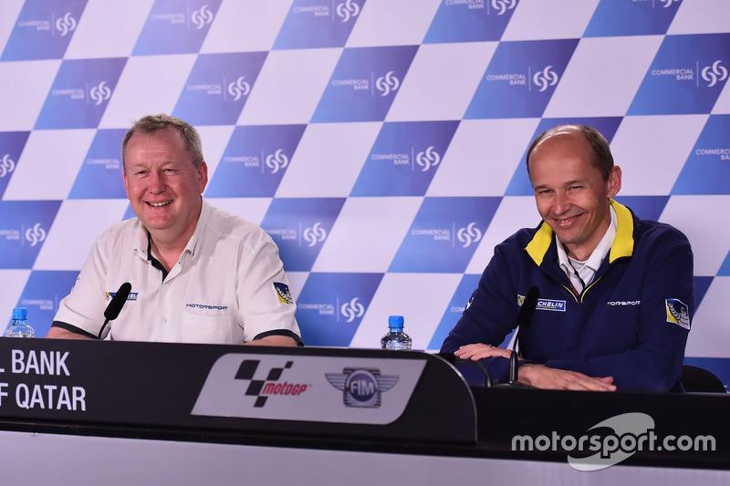 Pascal Couasnon, Directeur de Michelin Motorsport; Nicolas Goubert, Directeur Technique Michelin Motorsport
