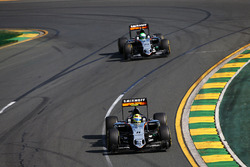 Серхио Перес, Sahara Force India F1 VJM09 и Нико Хюлькенберг, Sahara Force India F1 VJM09