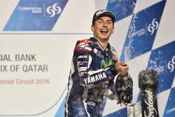 Podio: il vincitore della gara Jorge Lorenzo, Movistar Yamaha MotoGP, Yamaha
