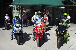 Aleix Espargaro, Team Suzuki MotoGP; Yonny Hernandez, Aspar Racing Team; Pol Espargaro, Monster Yamaha Tech 3