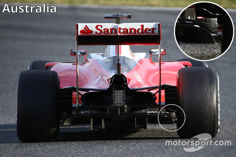 Diffuseur et ailettes du diffuseur de la Ferrari SF16-H