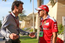 Mark Webber, piloto de la WEC del equipo Porsche - canal presentador 4 y Marc Gené, piloto de pruebas de Ferrari
