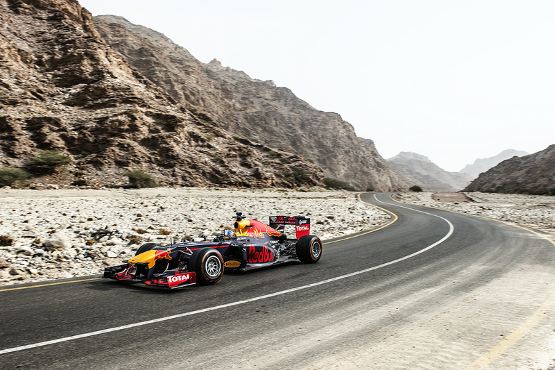 David Coulthard, Red Bull Racing durante el show run en Omán