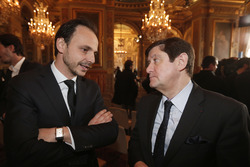 Nicolas Deschaux, presidente FFSA e Patrick Kanner, ministro dello Sport francese