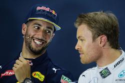 Press conference: Daniel Ricciardo, Red Bull Racing, Nico Rosberg, Mercedes AMG F1 Team