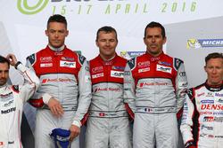 #7 Audi Sport Takımı Joest Audi R18: Marcel Fässler, Andre Lotterer, Benoit Tréluyer yarış galipleri