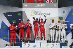 LMGTE Pro Podium: winners, Davide Rigon, Sam Bird, AF Corse, Gianmaria Bruni, James Calado, second place, Marco Sorensen, Darren Turner, Nicki Thiim, third place
