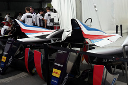 DS Virgin Racing car of Jean-Eric Vergne with new French flag back cover