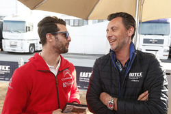 José María López, Citroën World Touring Car Team and  François Ribeiro, Eurosport Motorsport Director