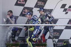 Podium: winner Valentino Rossi, Yamaha Factory Racing, second place Jorge Lorenzo, Yamaha Factory Racing celebrate with champagne