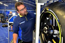 Un technicien Michelin au travail