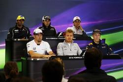Press conference: Felipe Nasr, Sauber, Sergio Perez, Sahara Force India F1, Esteban Gutierrez, Haas F1 Team, Jenson Button, McLaren, Nico Rosberg, Mercedes AMG F1 Team and Daniil Kvyat, Red Bull Racing