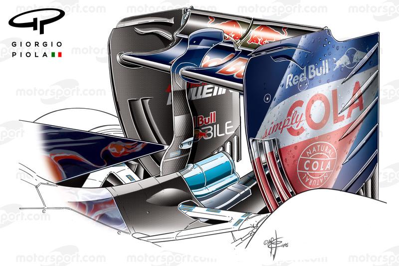Toro Rosso STR11 achtervleugel, Shanghai