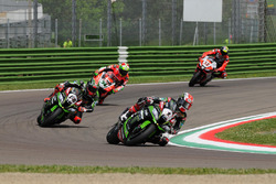 Jonathan Rea, Kawasaki Racing Team, Tom Sykes, Kawasaki Racing Team et Davide Giugliano, Aruba.it Racing - Ducati Team