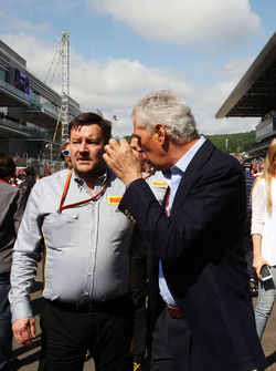 Paul Hembery, Pirelli Motorsport Director with Marco Tronchetti Provera, Pirelli Chairman on the grid