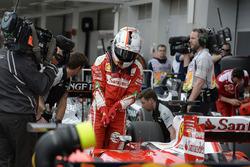 Sebastian Vettel, Ferrari SF16-H in parc ferme