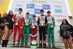 DJKM Sieger Rennen 1: Etienne Linty; Charles Milesi; Dennis Hauger; Luke Wankmüller; David Vidales