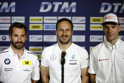 Pressekonferenz: Timo Glock, BMW Team RMG, BMW M4 DTM; Gary Paffett, Mercedes-AMG Team ART, Mercedes-AMG C63 DTM; Jamie Green, Audi Sport Team Rosberg, Audi RS 5 DTM