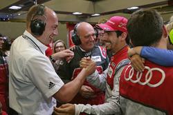 Dr. Ing. Stefan Knirsch, Dr. Wolfgang Ullrich, Head of Audi Sport, Lucas di Grassi, Audi Sport Team Joest